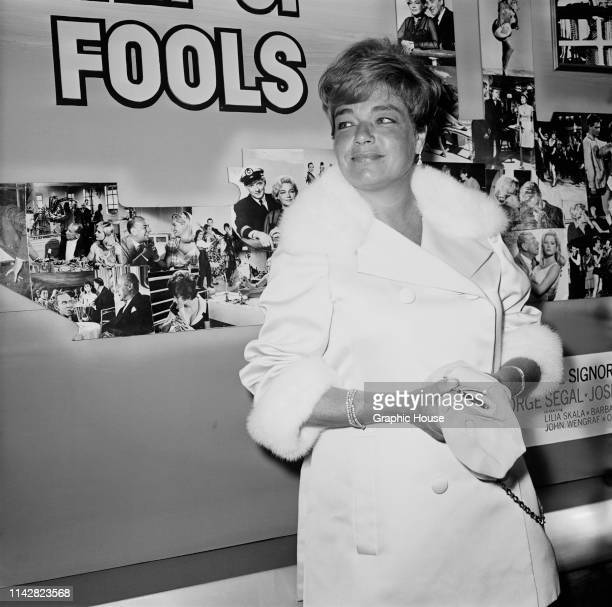 French actress Simone Signoret at the premiere of the film 'Ship of Fools' US 29th July 1965