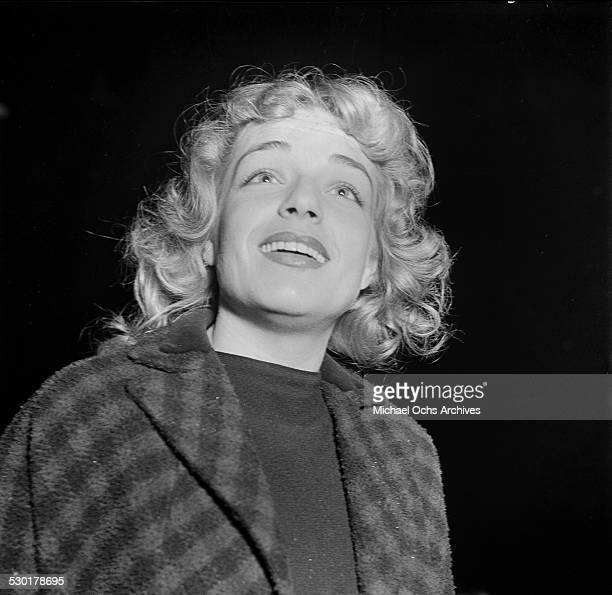 French actress Simone Signoret attends an event in Los AngelesCA