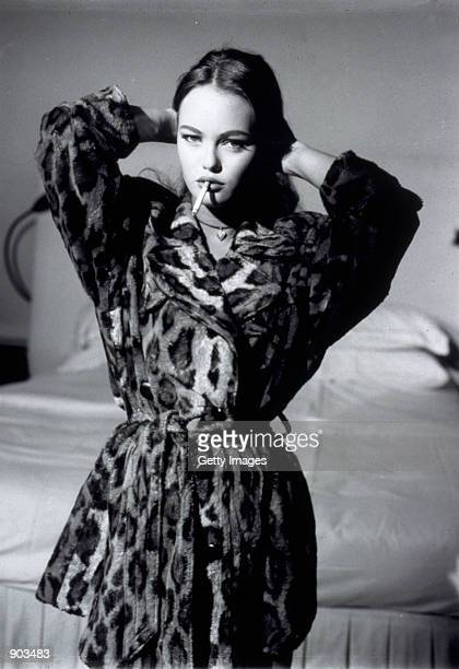 French actress singer and model Vanessa Paradis poses for a portrait in a studio June 5 1999