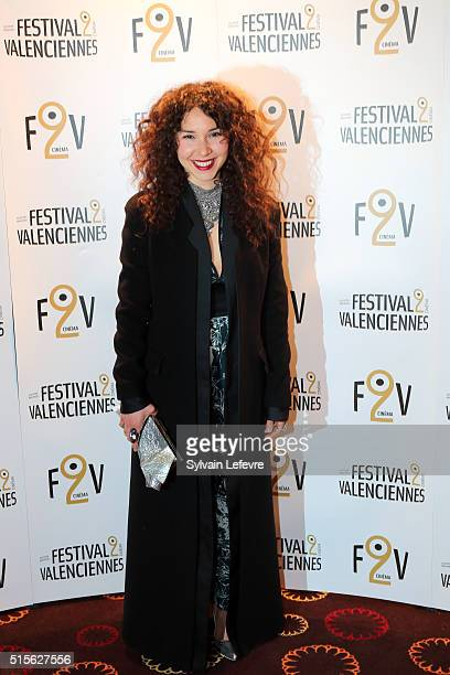 French actress Sofiia Manousha attends 6th Valenciennes Film Festival opening ceremony on March 14 2016 in Valenciennes France