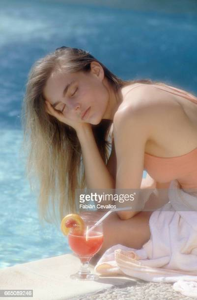 French Actress Sophie Duez in Evian