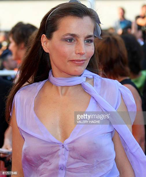 French actress Sophie Duez poses as she arrives to attend the screening of French director Philippe Garrel's film 'La Frontiere de l'Aube' at the...