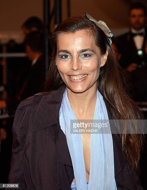 French actress Sophie Duez poses as she arrives to attend the screening of Canadian director Atom Egoyan's film 'Adoration' at the 61st Cannes...