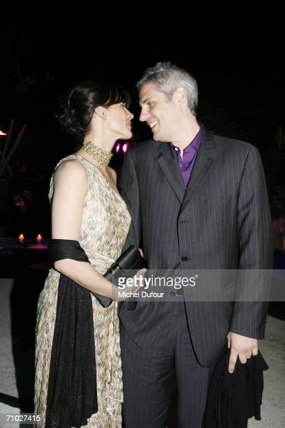 French actress Sophie Marceau and husband producer Jim Lemley attends the De Grisogono party guested,at the Eden Roc hotel, by Mr Fawaz Gruosi,as...