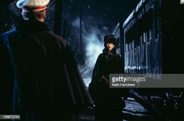 French actress Sophie Marceau as the literary heroine and English actor Sean Bean as her lover Vronsky in the film 'Leo Tolstoy's Anna Karenina' 1997