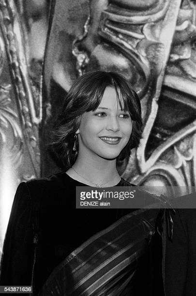 French actress Sophie Marceau attends the 1982 Cesar Awards