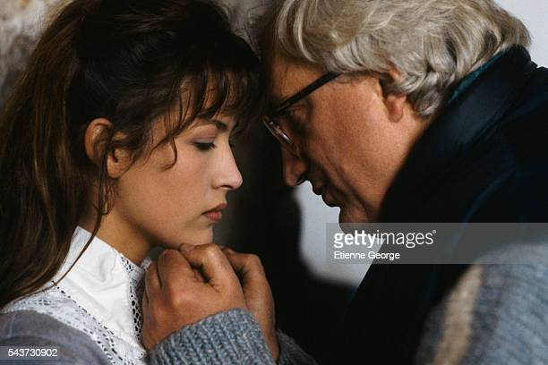 French actress Sophie Marceau directed by French director Bertrand Tavernier on the set of his film La Fille d'Artagnan