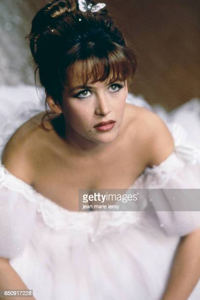 French actress Sophie Marceau on the set of Fanfan written and directed by Alexandre Jardin