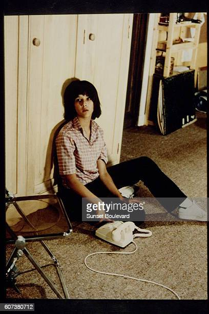 French actress Sophie Marceau on the set of La Boum written and directed by Claude Pinoteau