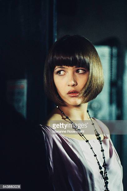 French actress Sophie Marceau on the set of L'Amour Braque, by her husband, Polish director, screenwriter and writer Andrzej Zulawski.