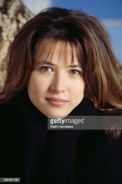 French actress Sophie Marceau on the set of the film 'Firelight', 1997.