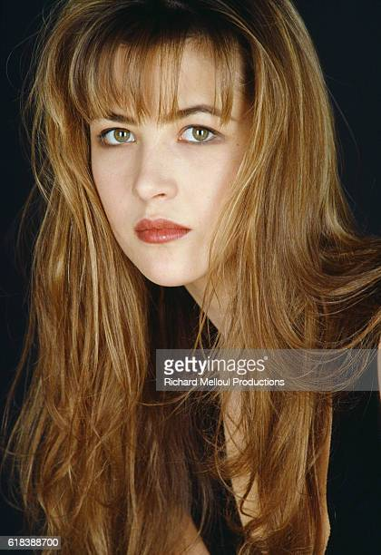 French actress Sophie Marceau poses in Paris