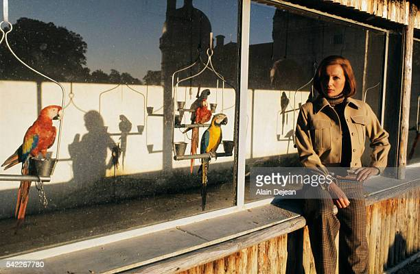 French actress Stephane Audran in Valencay