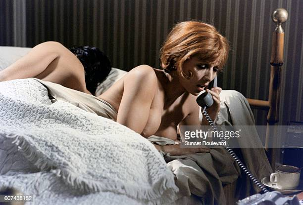 French actress Stephane Audran on the set of Vincent François Paul et les autres based on the novel by Claude Neron and directed by Claude Sautet