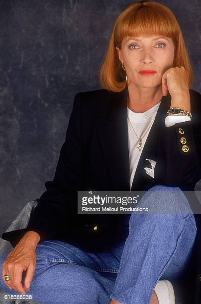 French actress Stephane Audran poses in Paris in 1988