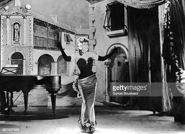 French actress Suzy Delair on the set of Quai des Orfèvres based on the novel by StanislasAndré Steeman and directed by HenriGeorges Clouzot