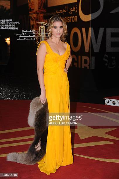 French actress Vahina Giocante arrives for a ceremony at the 9th edition of the Marrakech International Film Festival on December 5 2009 AFP PHOTO /...