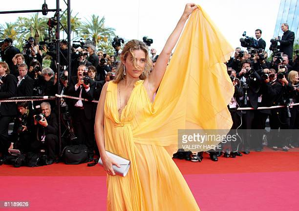 French actress Vahina Giocante poses as she arrives to attend the screening of US director Steven Soderbergh's film 'Che' at the 61st Cannes...