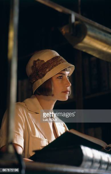 French actress Valerie Kaprisky on the set of Milena directed by Vera Belmont