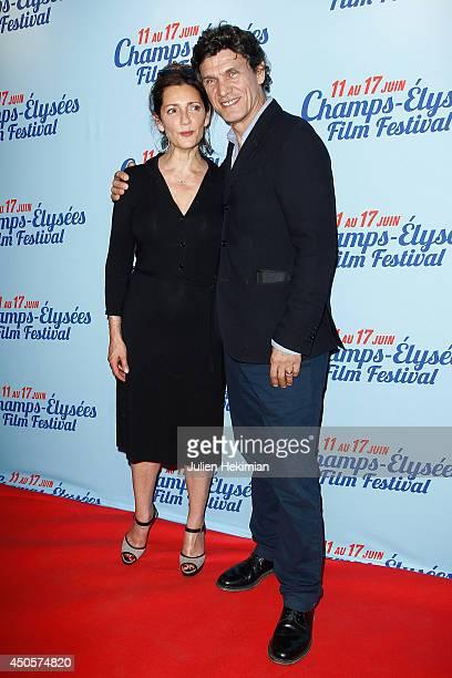 French actress Valerie Karsenti and actor Marc Lavoine attend A toute Epreuve Paris premiere on June 13 2014 in Paris France