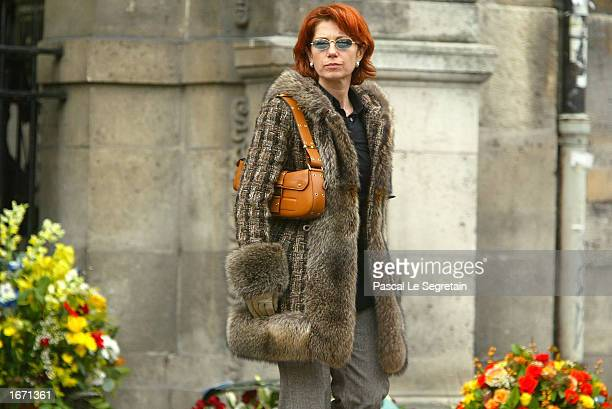 French actress Veronique Genest attends the funeral service for French actor Daniel Gelin December 4 2002 in Paris Gelin known best to English...
