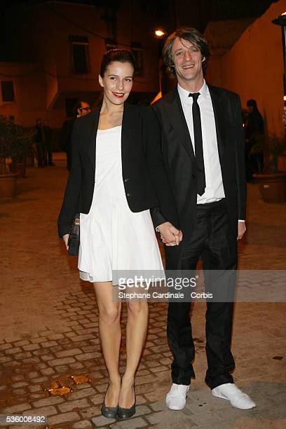 French actress Zoe Felix and date Benjamin Rolland attend Dior party during the 6th Marrakech Film Festival