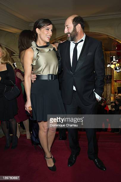 French actress Zoe Felix and Kad Merad attend the 37th Cesar Film Awards at Theatre du Chatelet on February 24 2012 in Paris France