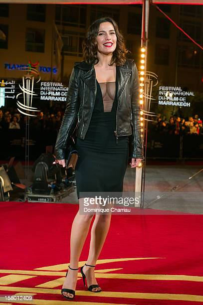 French actress Zoe Felix arrives to the awrard ceremony of the 12th International Marrakech Film Festival on December 8 2012 in Marrakech Morocco