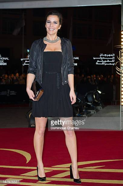 French actress Zoe Felix poses as she arrives at the 'Ginger Rosa' Premiere during the 12th International Marrakech Film Festival on December 7 2012...