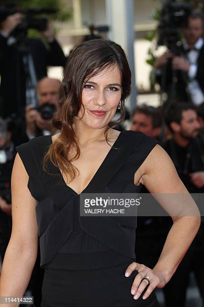 French actress Zoe Felix poses on the red carpet before the screening of La Piel Que Habito presented in competition at the 64th Cannes Film Festival...