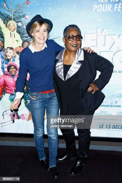 French actresses Anne Consigny and Firmine Richard attend 'La Deuxieme Etoile' Paris Premiere at UGC Cine Cite Bercy on December 10 2017 in Paris...