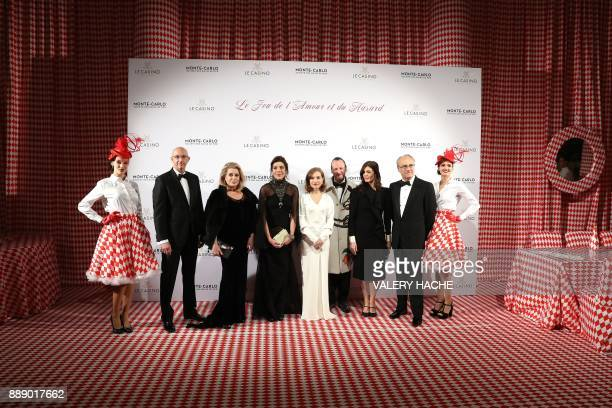 French actresses Catherine Deneuve and Isabelle Huppert and Deneuve's daughter FrenchItalian actress Chiara Mastroianni pose with Caroline Princess...