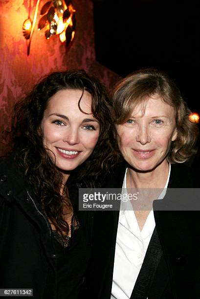 French actresses Claire Keim and Aurore Clément attend the Slav New Year's Day party held at Chez Castel