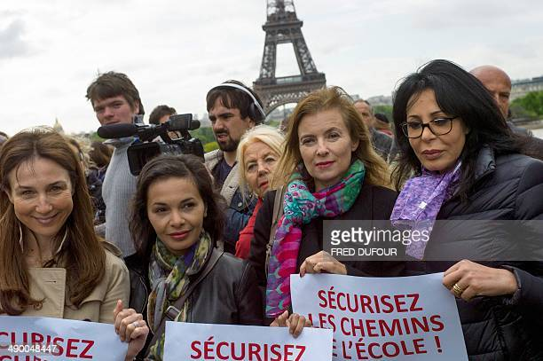 French actresses Elsa Zylberstein Saida Jawad former French first lady Valerie Trierweiler and former French Junior Minister in charge of Expatriates...