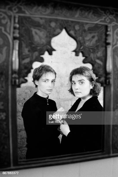 French actresses Emmanuelle Beart and Christine Citti.