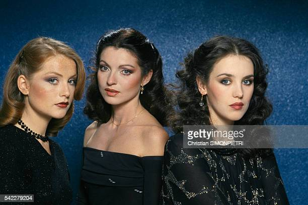 French actresses Isabelle Huppert MarieFrance Pisier and Isabelle Adjani for the movie Les Soeurs Bronte written and directed by Andre Techine