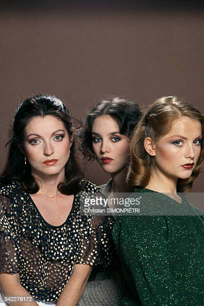 French actresses MarieFrance Pisier Isabelle Adjani and Isabelle Huppert for the movie Les soeurs Brontë Die Schwestern Bronte written and directed...