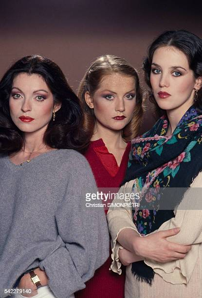 French actresses MarieFrance Pisier Isabelle Huppert and Isabelle Adjani for the movie Les soeurs Bronte Die Schwestern Bronte written and directed...