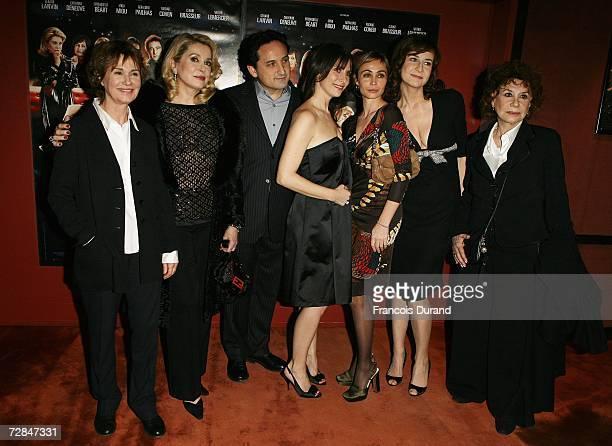 French actresses MiouMiou Catherine Deneuve director Thierry Klifa actresses Geraldine Pailhas Emmanuelle Beart Valerie Lemercier and Claire Maurier...