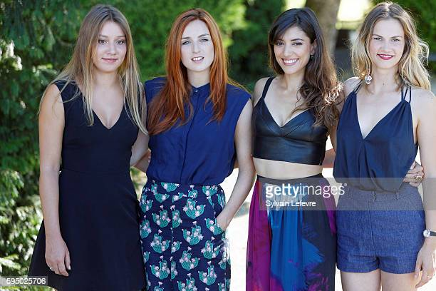French actresses Philippine Stindel Alison Wheeler Vanessa Guide and Margot Bancilhon attend the 9th Angouleme FrenchSpeaking Film Festival on August...