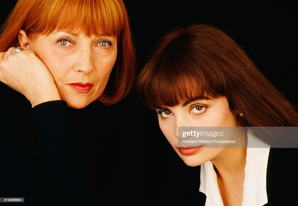 Actresses Stephane Audran and Marie Trintignant : Photo d'actualité