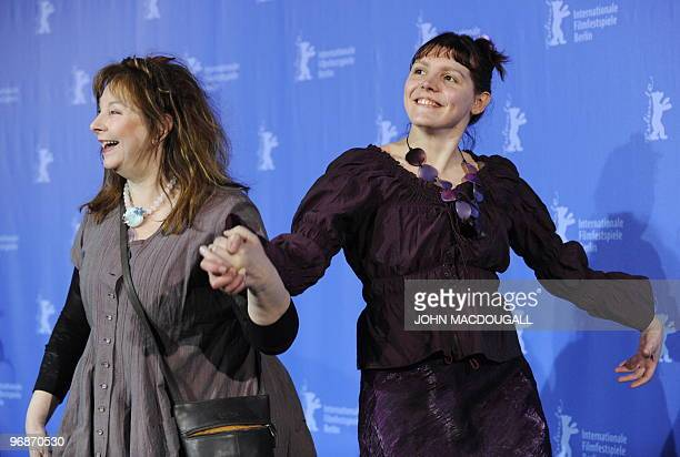 French actresses Yolande Moreau and Miss Ming pose for photographers during the photo call for the movie 'Mammuth' during the 60th Berlinale Film...