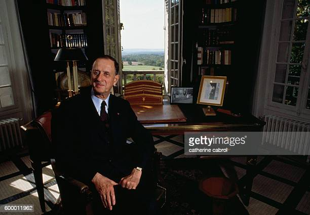 French admiral Philippe de Gaulle son of General Charles de Gaulle in his parents' home La Boisserie