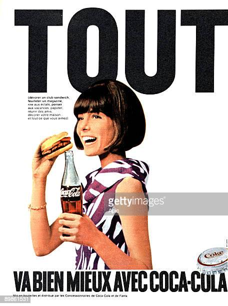 French advert the drink Coca cola published in 1960's