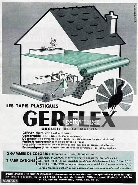 French Advertisement For Gerflex Plastic Carpets 1953 Pictures