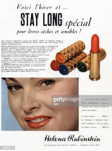French advertisement for Helena Rubinstein lipstick 1952
