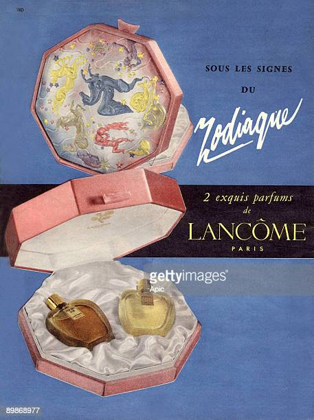 French advertisement for Lancome perfumes, 1958