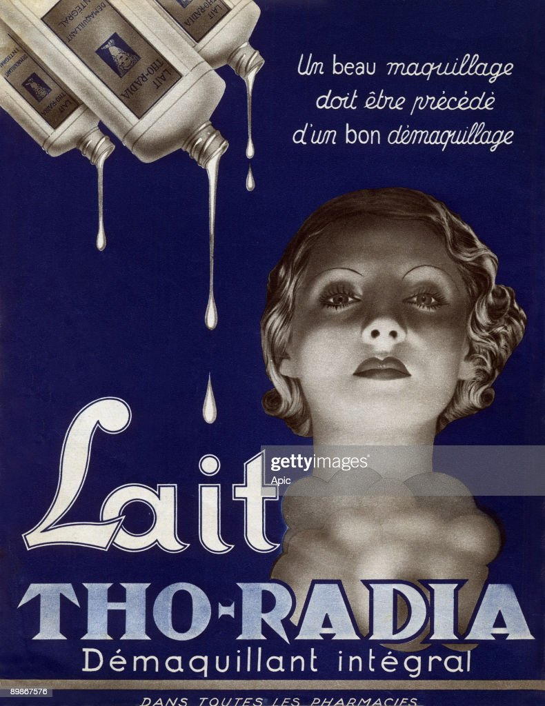 French advertisement for Tho-Radia cleansing milk 1938