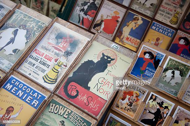 french advertising posters and postcards - painting art product stock pictures, royalty-free photos & images