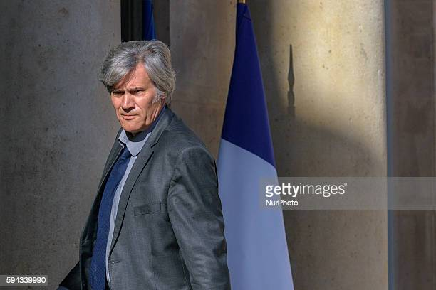 French Agriculture minister and Government spokesperson Stephane Le Foll arrives at the Elysee presidential Palace in Paris for the first weekly...